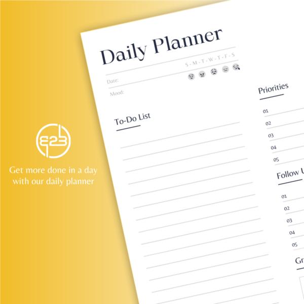 B2B Hub daily planner