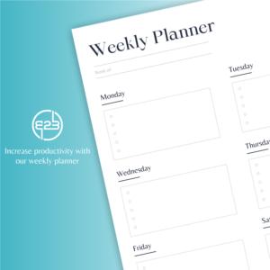 B2B Hub weekly planner